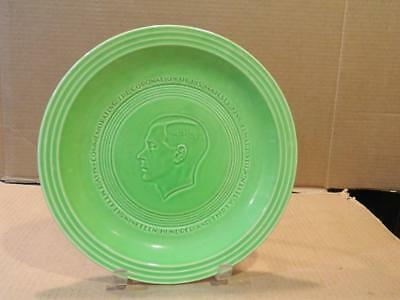 King Edward VIII Coronation Plate 1937 Bright Neon Green