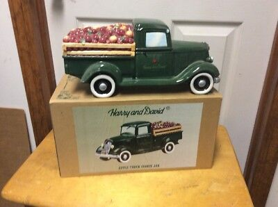 Harry and David Apple Truck Cookie Jar: Original box
