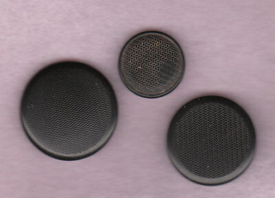 3 GOODYEAR RUBBER BUTTONS  back mark I.R.C. co GOODYEAR & DHR co 1875
