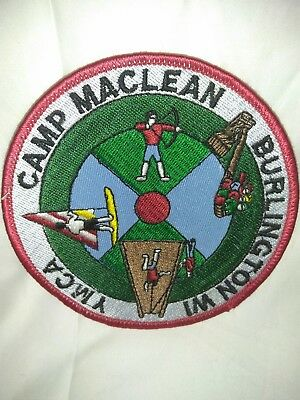 YMCA Camp Maclean Burlington Wisconsin Patch Large Oval