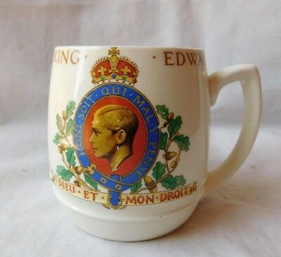 Vtg Minton Mug 1937 Coronation Of King Edward Made England Must See !!