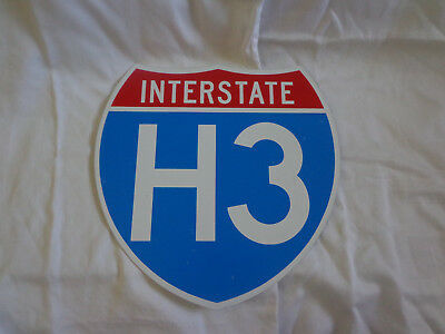 NICE Quality Reproduction ? Hawaii Interstate H3 Sign Honolulu
