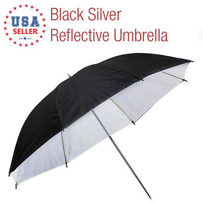 "Photo Studio 33"" Black/White Photography Umbrella Reflector Continuous Lighting"