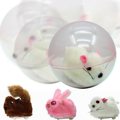 Running Hamster In A Ball Electric Plush Rolling Children's Intelligence Toy