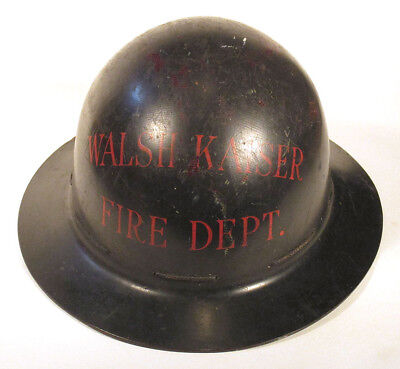 1940s Rare WALSH KAISER SHIPYARD Providence RI FIRE HELMET World War 2 Navy