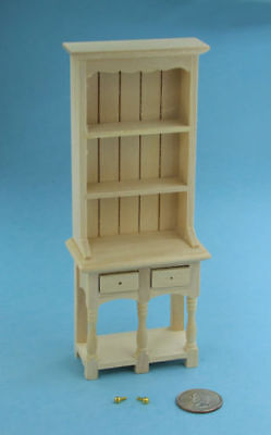 NICE Dollhouse Miniature Natural Wood Hutch with Hardware PAINTABLE #SBEF005