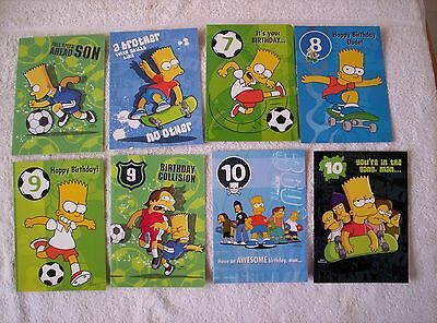 10 x The Simpsons -   Bart and Homer  birthday cards.