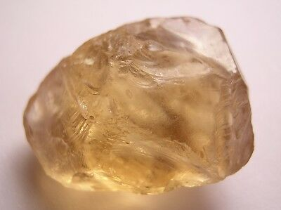 Citrine, Clean Light Golden Facet Rough, Bahia Brazil