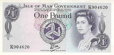 Isle Of Man Government 1 Pound Note 1979 Cu P-34