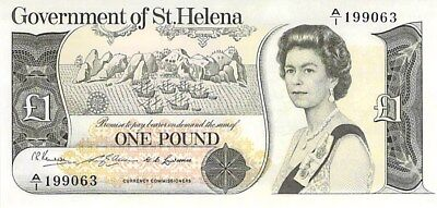 Government Of St. Helena 1 Pound Note 1976 Cu P-6