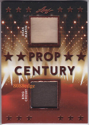 2018 Pop Century Dual Swatch: Dean Martin/bing Crosby #pc2-07 Worn Wardrobe