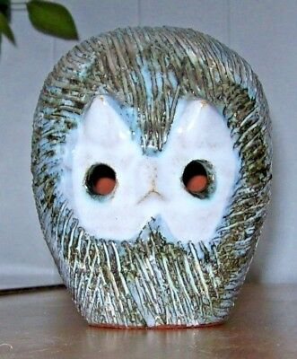Vintage' Briglin Pottery' Money Box -OWL Shaped, c.1960,1970,Hand Crafted,