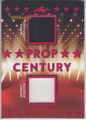 2018 Pop Century Dual Swatch #pc2-03: Barbara Streisand/whitney Houston #3/10