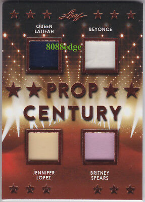 2018 Pop Century Quad Worn Swatch: Latifah/beyonce/jennifer Lopez/britney Spears