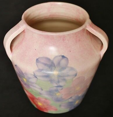 ANTIQUE VINTAGE 1920's+ E RADFORD BURSLEM HAND PAINTED 3 HANDLE VASE TYG