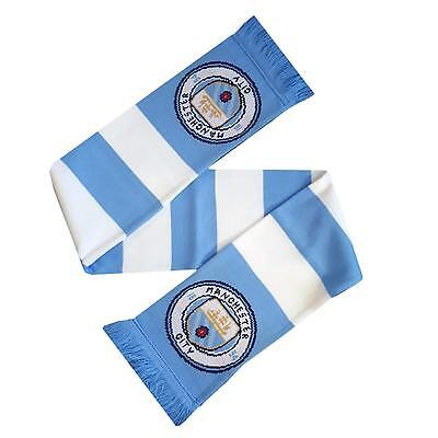Manchester City Bar Scarf, Man City Scarf, Official Licensed Premiership Scarf