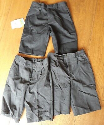 3 Pairs Of Age 9 Years Grey School Shorts (9)