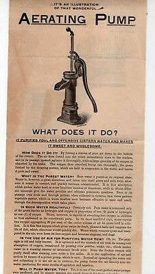 Vintage Aerating Hand Pumps advertisement