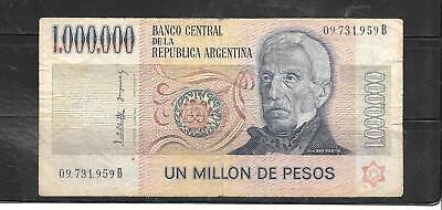 Argentina #310 1981 Good Used Old Million Peso Banknote Paper Money Currency