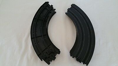 Aurora AFX - 9 Inch R Curves 229mm 1/4 Circle - No. 503349 - Lot Of 12