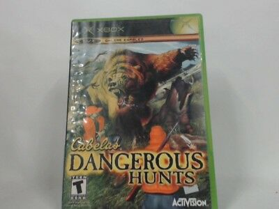 Cabela's Dangerous Hunts Xbox Complete In Box W/ Manual Cib Very Good