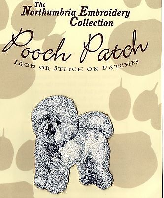 Bichon Frise  EMBROIDERED  Pooch Patch