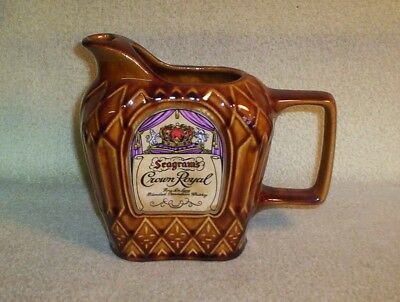 Joseph Seagram & Sons Limited Seagram's Crown Royal Ceramic Pitcher