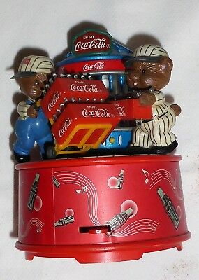 "Coca Cola Spieluhr Spieldose 1996 Spielt "" I'D Like To Buy The World A Coke """