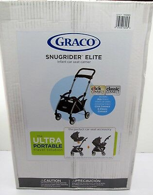 NEW Graco SnugRider Elite Frame Infant Car Seat Carrier Stroller - Black NICE