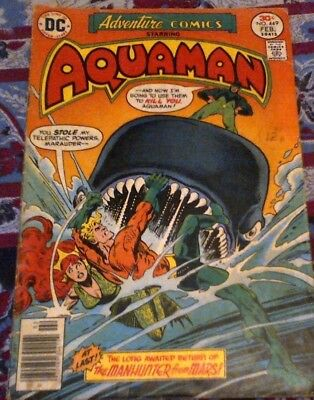 Adventure Comics Issue 449 From 1977 By DC From the Aquaman Run