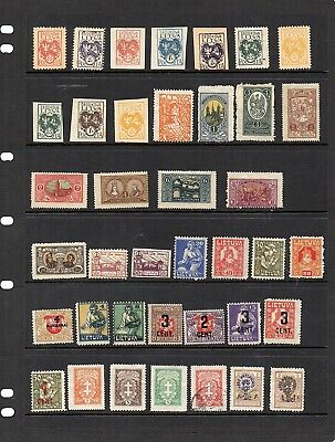 1920's Stamps from old Album - Hinged Mint or Used - Lithuania x 39