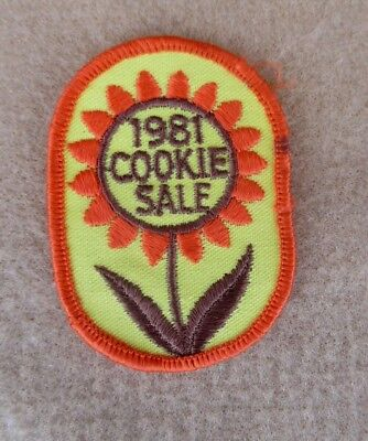 Sew On Patch 1981 Cookie Sale Girl Scouts