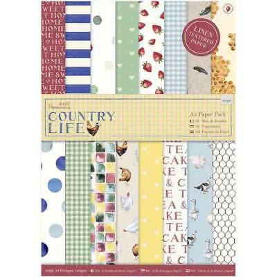 Papermania A4 Single-Sided Paper Pack 24/Pkg Country Life, 24 Des 499993341786