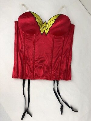 Wonder Woman Corset Small to Medium Red Rubies Costume Co