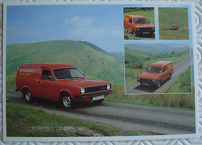 Post Office postcard  - Mail Van in Black Mountains, Wales (1981)
