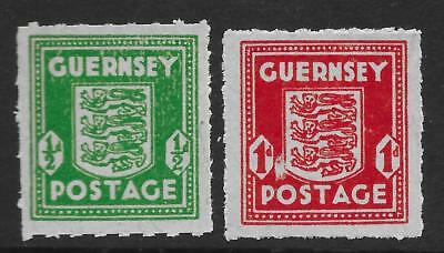 Guernsey 1941-44 ½d & 1d on Bluish French Bank-Note Paper SG 4-5 (Mint)