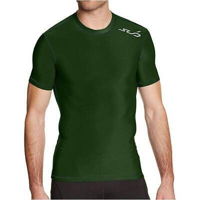 Sub Sports Cold Thermal Mens Short Sleeve Top Compression Baselayer - Green
