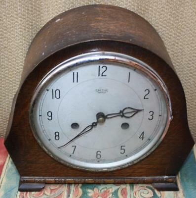 Smiths Enfield 8 Day Chiming Mantle Clock With Horstmann Key - Spares / Repairs