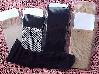 Job Lot of 8 Mixed Pairs of Knee Highs & Ankle Highs - BLACK & NUDE