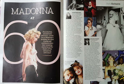 Madonna Sunday Times Style Magazine Brand New Celebrating her 60th Birthday