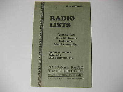 1929 National Radio Trade Directory...Radio Dealers, Distributors, Manufacturers