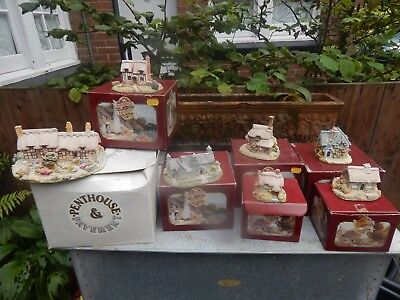 Car boot job lot.11 x Penthouse Pavement Houses. Ornaments
