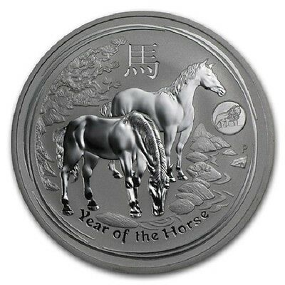 2014 One Ounce Silver Lunar Year Of The Horse With Lion Privy