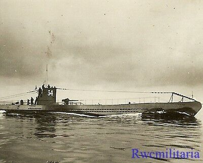 **RARE: Kriegsmarine U-Boat U-34 (sunk 1943) Running on Ocean Surface!!!**