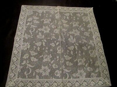 Vintage Ivory Wedding ALL lace hanky handkerchief, Unused, 12 1/2""