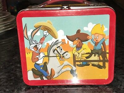LOONEY TUNES RODEO School Days Lunch Box Hallmark Bugs Bunny NEW Sealed Plastic