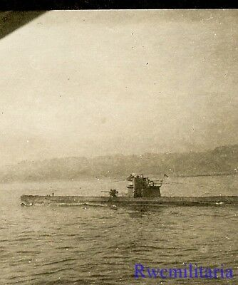 **RARE: Surfaced Kriegsmarine U-Boat Submarine Running Along Coastline!!!**