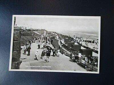 Postcard of The Promenade, Aberdeen 3844 (RP Posted JB White)