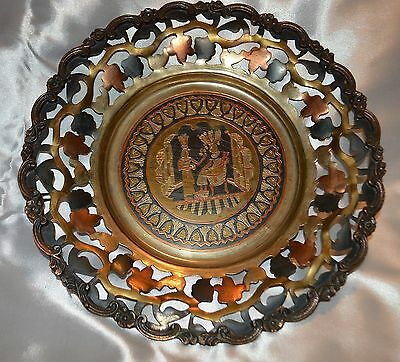Spectacular detail Egyptian Style Metal Plate Copper Brass and other metal