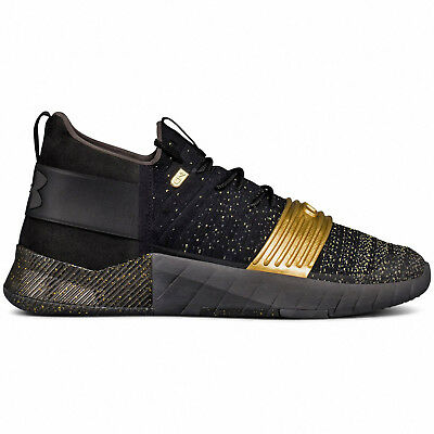 New Under Armour UA C1N LUX Trainer Mens Training Shoes Cam Newton - Black Gold